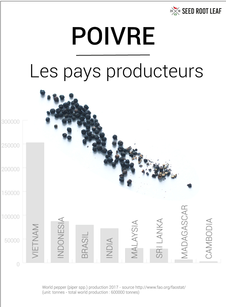 Poivre - production en 2017